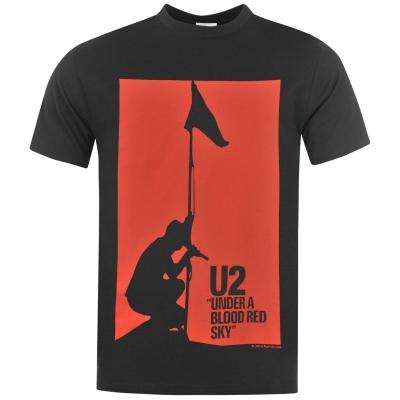 Tricou Official U2 pentru Barbati rosu albastru