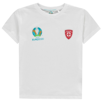 Tricou UEFA Euro 2020 Anglia Core Juniors alb
