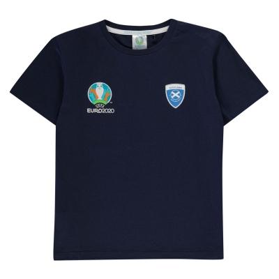 Tricou UEFA Euro 2020 Scotland Core pentru baietei bleumarin