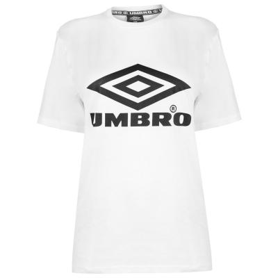 Tricou Umbro Umbro Boyfriend pentru femei alb negru