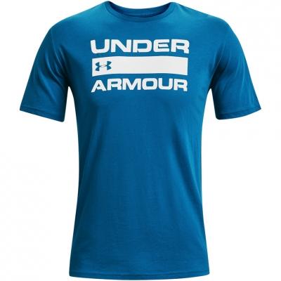 Tricou Under Armor Team Issue Wordmark SS albastru 1329582 432 pentru Barbati