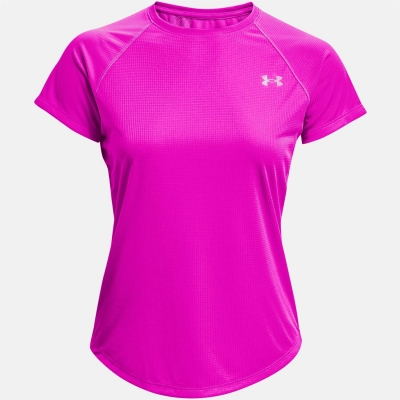 Tricou Under Armour cu dungi pentru Femei meteor roz