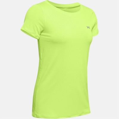 Tricou Under Armour HeatGear pentru femei verde lime fizz argintiu