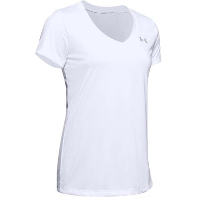 Tricou Under Armour Tech Solid pentru Femei alb