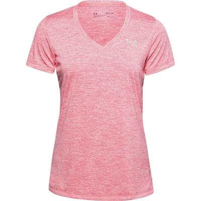 Tricou Under Armour Tech Twist pentru Femei roz galben