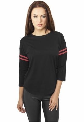 Tricou urban cu maneca lunga negru-rosu Urban Classics