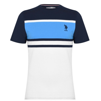 Tricou US Polo Assn Block albastru