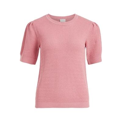 Tricou Vila Puff tricot wild roz