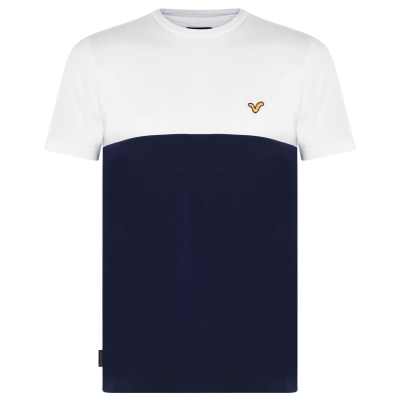 Tricou VOI Bergamo pentru Barbati alb bleumarin