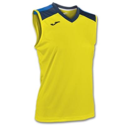 Tricou volei Joma galben-bleumarin fara maneci W