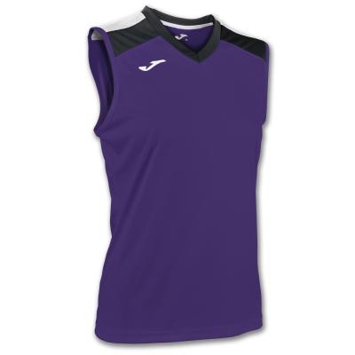 Tricou volei Joma Purple-negru fara maneci W mov
