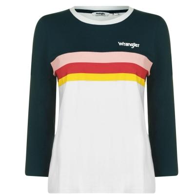 Tricou Wrangler Rainbow gri albastru