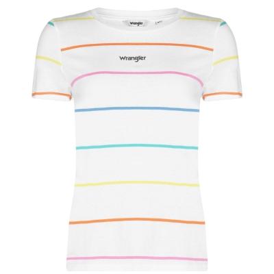 Tricou Wrangler Regular real alb