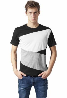 Tricou Zig Zag negru-gri Urban Classics