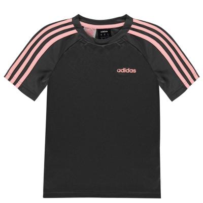 Tricouri antrenament adidas Sereno pentru baietei gri roz