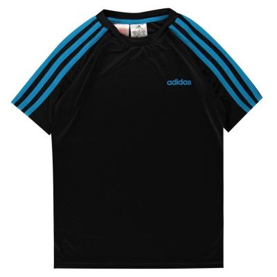 Tricouri antrenament adidas Sereno pentru baietei negru solblue