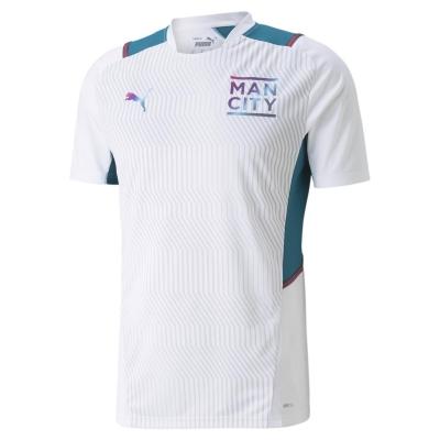 Tricouri antrenament Puma Manchester City 2021 2022 pentru Barbati alb verde
