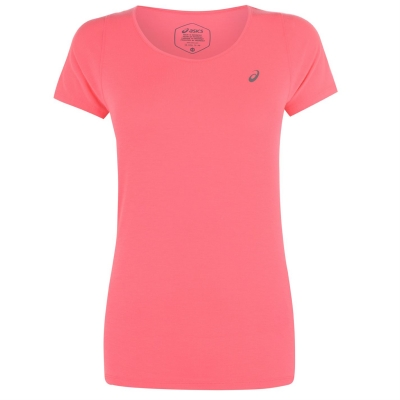 Tricouri Asics cu decolteu in V pentru Femei laser roz