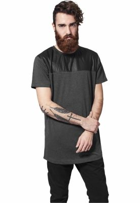 Lung insertie piele ecologica Tee Urban Classics