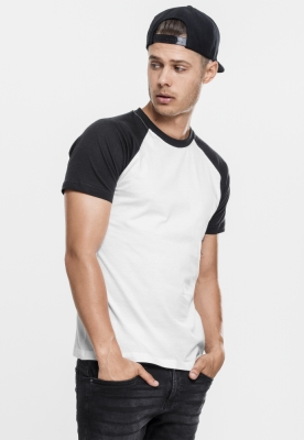 Tricouri casual in doua culori pentru barbati alb-negru Urban Classics