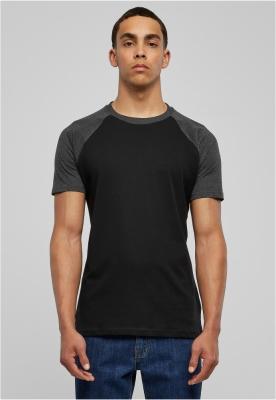 Tricouri casual in doua culori pentru barbati negru-gri Urban Classics carbune