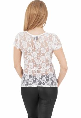 Tricouri cu dantela la spate alb-alb Urban Classics murdar