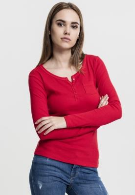 Tricouri cu maneca lunga cu buzunar foc-rosu Urban Classics