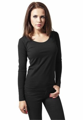 Tricouri cu maneca lunga simple femei negru Urban Classics
