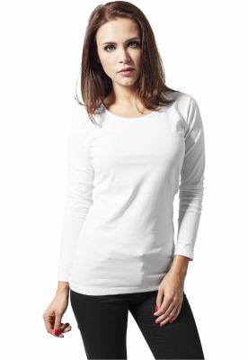 Bluza cu maneca lunga pentru Femei Urban Classics alb