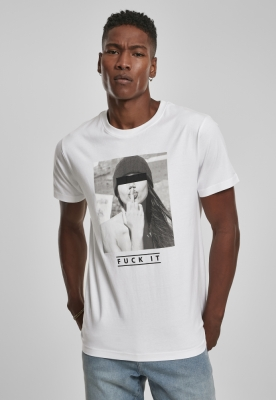 Tricouri cu mesaje obscene F#oKIT alb Mister Tee