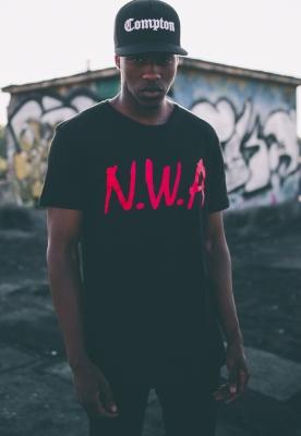Tricouri cu trupe N.W.A. negru Mister Tee