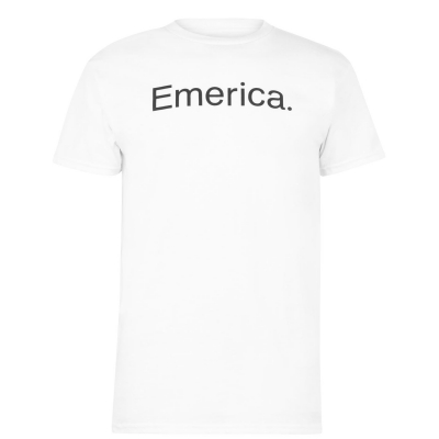 Tricouri Emerica Pure cu maneca scurta alb