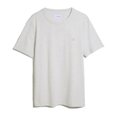 Tricouri Farah Vintage Denny alb gri