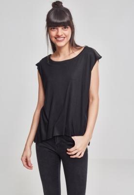 Tricou cu fermoar pe umeri pentru Femei Urban Classics negru