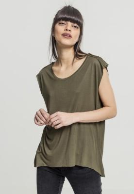 Tricouri fashion cu fermoar la umar oliv Urban Classics