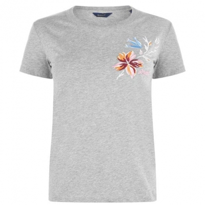 Tricouri Gant gri