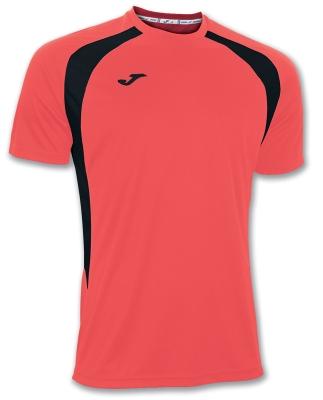Tricouri Joma T- Champion III Coral-orange-negru cu maneca scurta fosforescent negro1