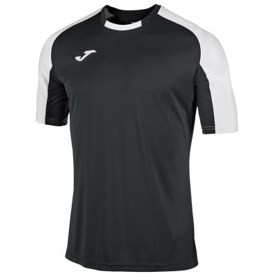 Tricouri Joma T- Essential negru-alb cu maneca scurta