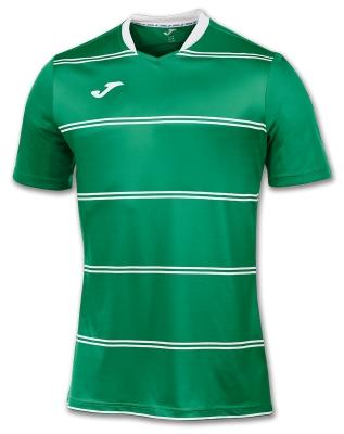 Tricouri Joma T- Standard verde Stripes cu maneca scurta