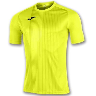 Tricouri Joma T- Tiger galben Fluor cu maneca scurta fosforescent