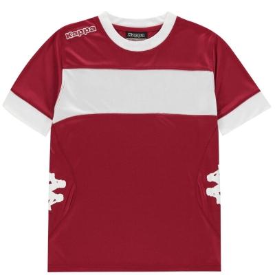 Tricouri Kappa Remilio pentru baietei visiniu alb