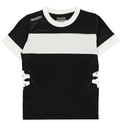 Tricouri Kappa Remilio pentru baietei negru alb