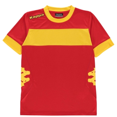 Tricouri Kappa Remilio pentru baietei rosu galben