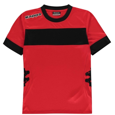 Tricouri Kappa Remilio pentru baietei rosu inchis negru