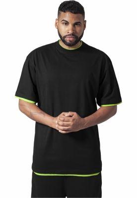 Tricouri largi hip hop negru-verde deschis Urban Classics