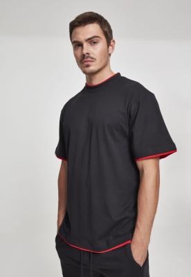 Tricouri largi hip hop negru-rosu Urban Classics