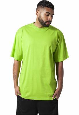 Tricouri lungi simple barbati verde-lime Urban Classics