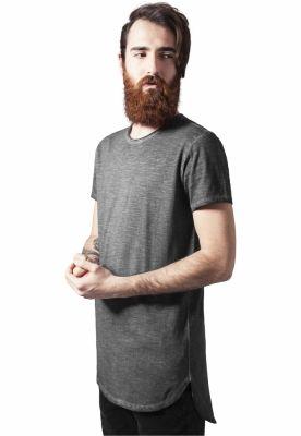 Tricouri lungi la spate spray dye gri inchis Urban Classics