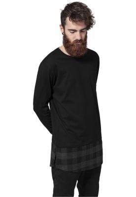 Tricouri lungi model ecosez negru-negru Urban Classics