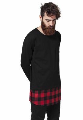 Tricouri lungi model ecosez negru-negru Urban Classics rosu